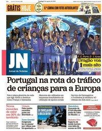 capa Jornal de Notícias de 5 agosto 2018