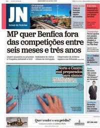 capa Jornal de Notícias de 5 setembro 2018