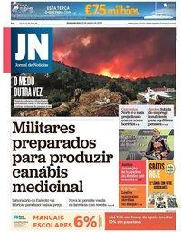 capa Jornal de Notícias de 6 agosto 2018