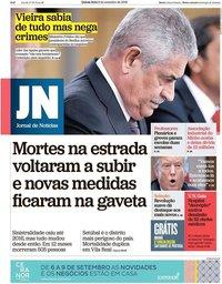 capa Jornal de Notícias de 6 setembro 2018