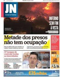 capa Jornal de Notícias de 7 agosto 2018