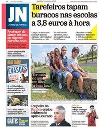 capa Jornal de Notícias de 7 setembro 2018