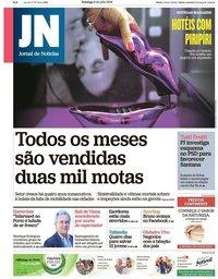 capa Jornal de Notícias de 8 julho 2018