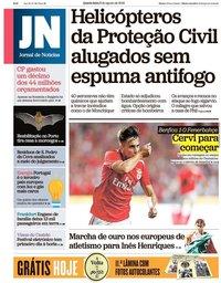 capa Jornal de Notícias de 8 agosto 2018