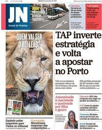 capa Jornal de Notícias de 8 setembro 2018