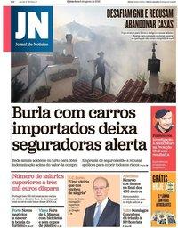capa Jornal de Notícias de 9 agosto 2018