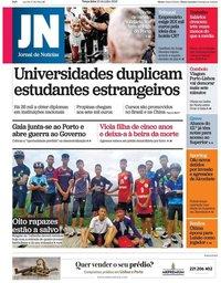 capa Jornal de Notícias de 10 julho 2018