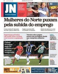 capa Jornal de Notícias de 10 agosto 2018