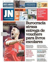 capa Jornal de Notícias de 11 agosto 2018