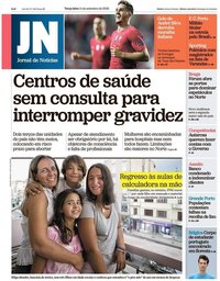 capa Jornal de Notícias de 11 setembro 2018