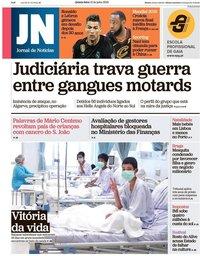 capa Jornal de Notícias de 12 julho 2018