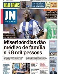 capa Jornal de Notícias de 12 agosto 2018