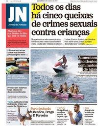 capa Jornal de Notícias de 12 setembro 2018