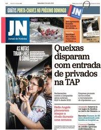 capa Jornal de Notícias de 13 julho 2018