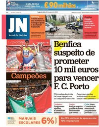 capa Jornal de Notícias de 13 agosto 2018