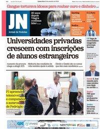 capa Jornal de Notícias de 13 setembro 2018