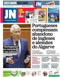 capa Jornal de Notícias de 14 julho 2018