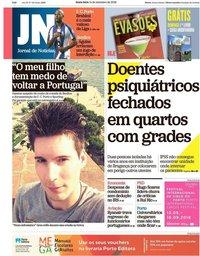 capa Jornal de Notícias de 14 setembro 2018