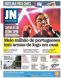 capa Jornal de Notícias de 15 julho 2018