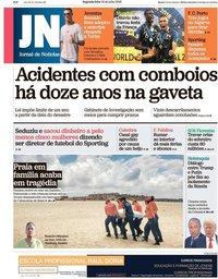 capa Jornal de Notícias de 16 julho 2018