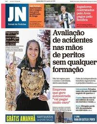 capa Jornal de Notícias de 16 agosto 2018