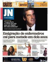 capa Jornal de Notícias de 16 setembro 2018