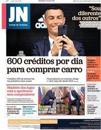capa Jornal de Notícias de 17 julho 2018