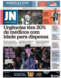 capa Jornal de Notícias de 17 setembro 2018