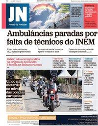 capa Jornal de Notícias de 19 julho 2018