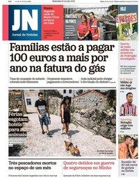 capa Jornal de Notícias de 20 julho 2018