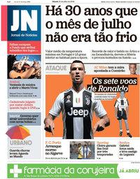capa Jornal de Notícias de 21 julho 2018