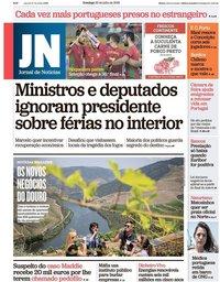 capa Jornal de Notícias de 22 julho 2018