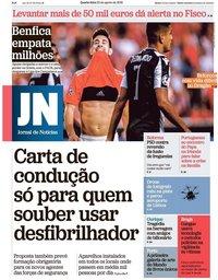capa Jornal de Notícias de 22 agosto 2018