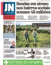 capa Jornal de Notícias de 23 julho 2018