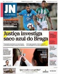 capa Jornal de Notícias de 23 setembro 2018