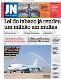 capa Jornal de Notícias de 24 julho 2018