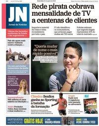 capa Jornal de Notícias de 24 agosto 2018