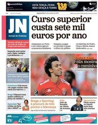 capa Jornal de Notícias de 24 setembro 2018