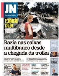capa Jornal de Notícias de 25 julho 2018