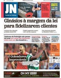capa Jornal de Notícias de 25 agosto 2018