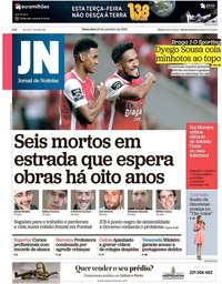 capa Jornal de Notícias de 25 setembro 2018