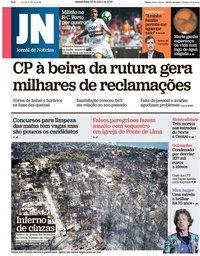 capa Jornal de Notícias de 26 julho 2018
