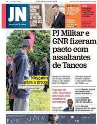 capa Jornal de Notícias de 26 setembro 2018