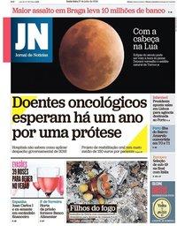 capa Jornal de Notícias de 27 julho 2018