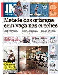 capa Jornal de Notícias de 27 agosto 2018