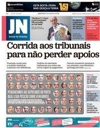 capa Jornal de Notícias de 27 setembro 2018