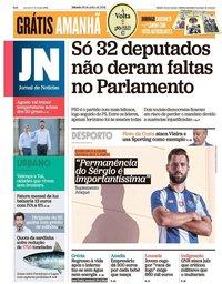 capa Jornal de Notícias de 28 julho 2018