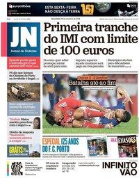 capa Jornal de Notícias de 28 setembro 2018