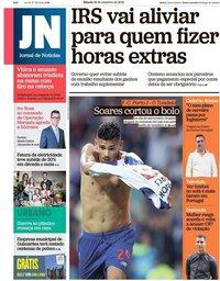 capa Jornal de Notícias de 29 setembro 2018