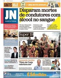 capa Jornal de Notícias de 30 julho 2018